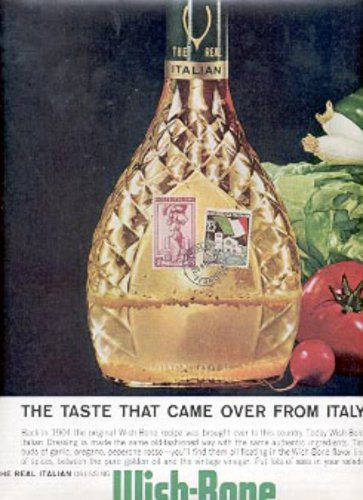 1962 Wish-Bone Italian Dressing ad ( # 2575)