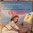 1952 Old Gold  cig. ad ( # 1829)