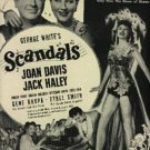 "1945 ""Scandals"" w/ Joan Davis movie ad (# 857)"