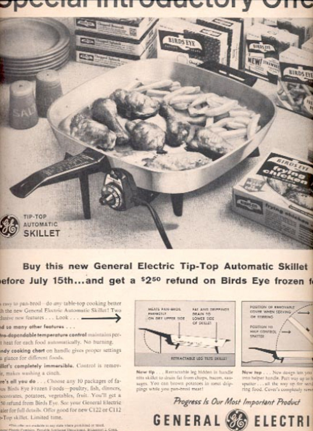 1960  General Electric automatic skillet  ad (#5492)