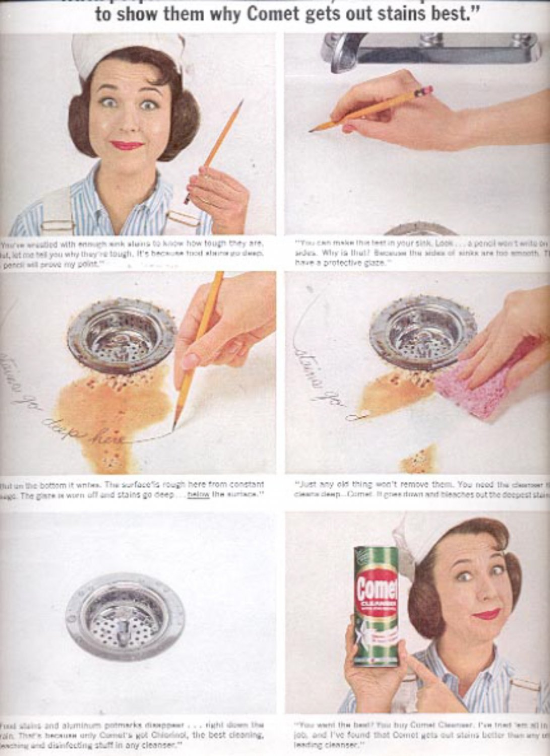 1963  Comet Cleanser with Josephine- the lady plumber  ad (#5379)