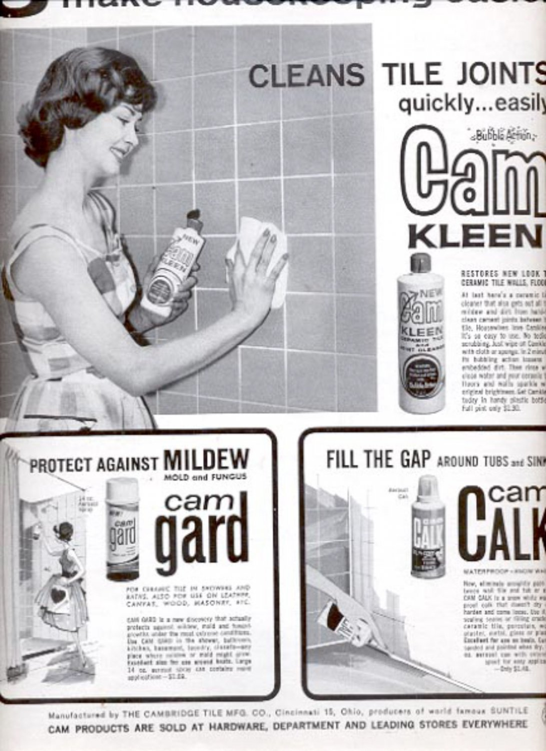 1963  Cam Products - Cam Keen, Cam Gard, Cam Calk  ad (#5376)