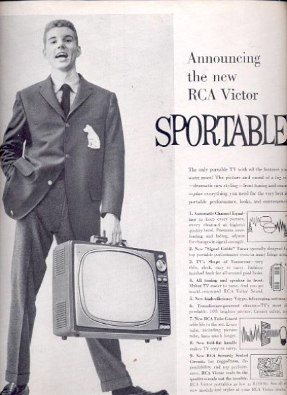 1959  RCA Victor Sportable TV   ad (#5559)