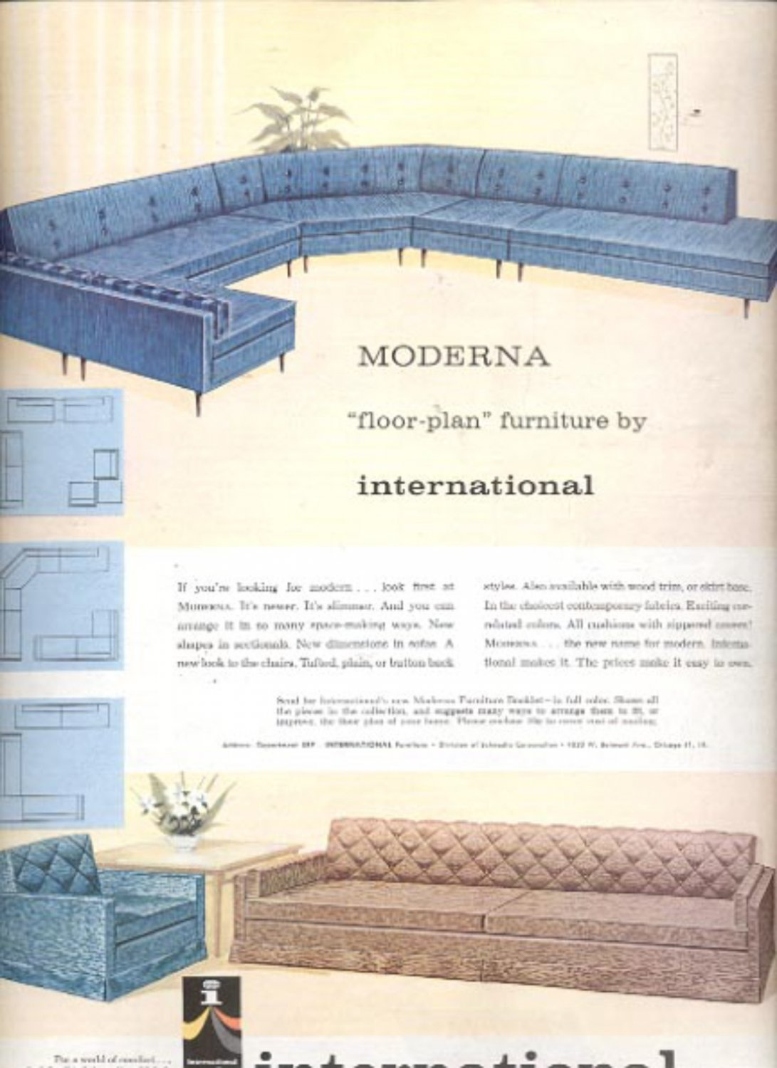 1960 International Furniture   ad (#5465)