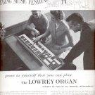 1960 Lowrey Organ    ad (#5464)