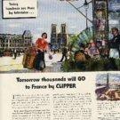 1945 Pan American World Airways ad (#637)