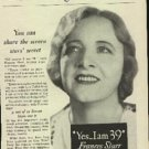 1932  Lux ad  w/ Frances Starr   (  # 714)