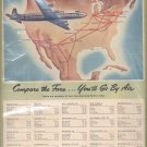 1946 American Airlines System fare ad (#99)