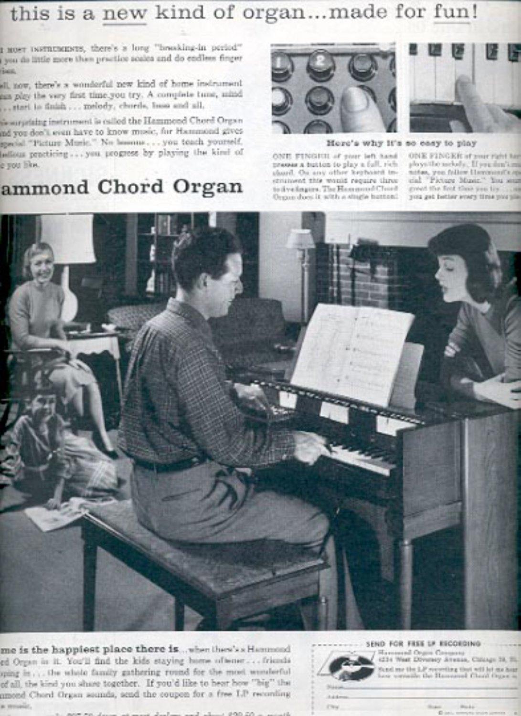 1957     Hammond Chord Organ  ad (# 4924)