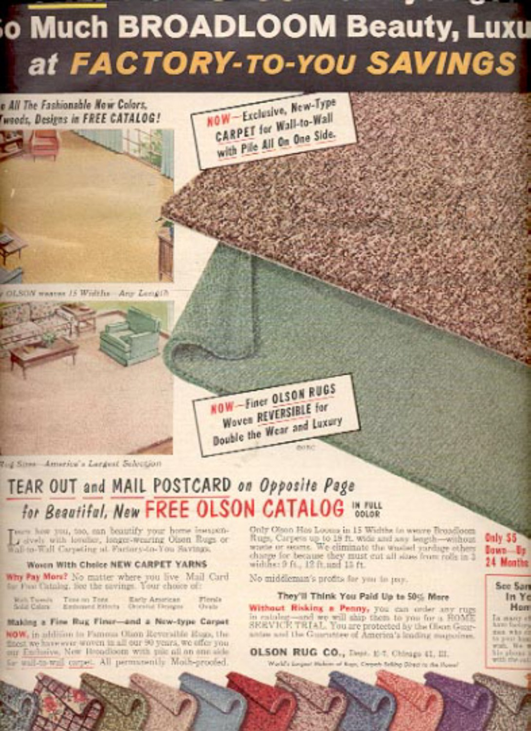1964    Olson Rug Co.  ad (# 4892)