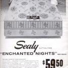 1957  The Sealy enchanted nights mattress  ad (# 4830)