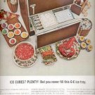 1964    General Electric Refrigerator Ice Tray ad (# 4589)