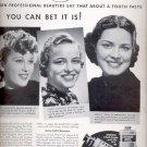 1937  Listerine Toothpaste  ad (# 5104)