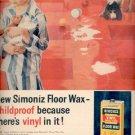 1958  Simoniz Floor Wax   ad (#4109)