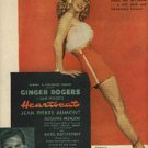 "1946 ""Heartbeat"" /wGinger Rogers movie ad (# 1003)"
