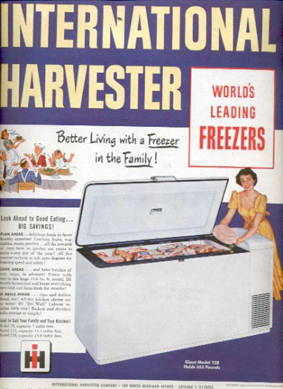 1951 International Harvester Freezer   magazine ad (#4338)