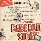 1948 The Babe Ruth Story movie ad ((#1845)