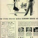 1939  Wear-Ever Aluminum  cooking utensils ad (# 1201)
