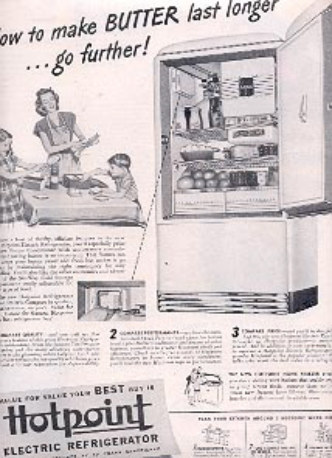1946  Hotpoint Electric Refrigerator ad (# 2165)