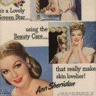 1945    Lux  ad   w/ Ann Sheridan (# 522)