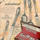 1952  Enchantment- 1881 Rogers Silverplate ad (#  1904)