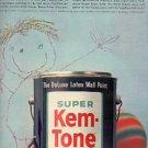 1963 Super Kem-Tone Wall Paint ad ( # 1567)