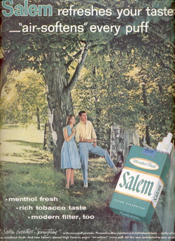 1960 Salem Cigarettes  ad (#5443)