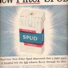 1957  Spud Mentol Cigarette ad (# 4710)