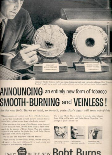 1957  Robt. Burns Tobacco  ad (# 4691)