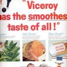 1957  Viceroy Filter Tip Cigarettes  ad (# 4717)