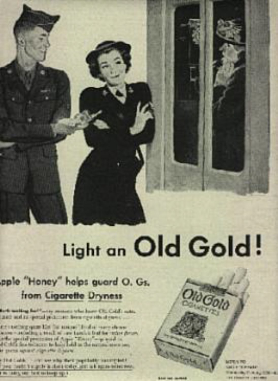 1945  Old Gold    cig  magazine ad ( # 720)