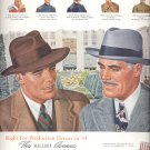 Oct. 9, 1944   Mallory hats  ad  (#2878)