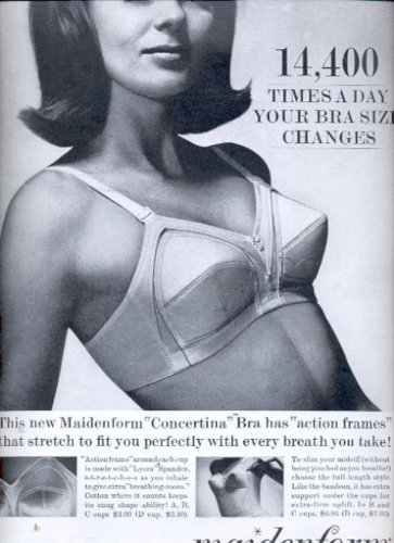 1964   Concertina bra by Maidenform  ad (#5972)