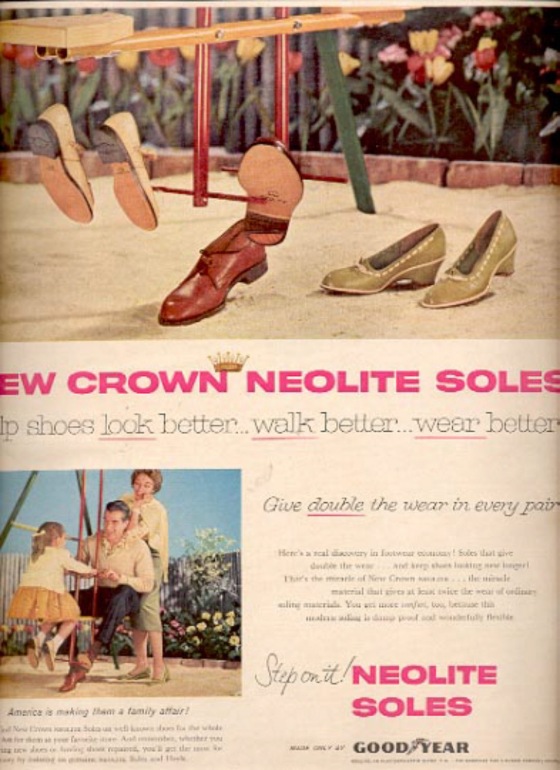 1957  Neolite Soles by Good Year  ad (# 4988)