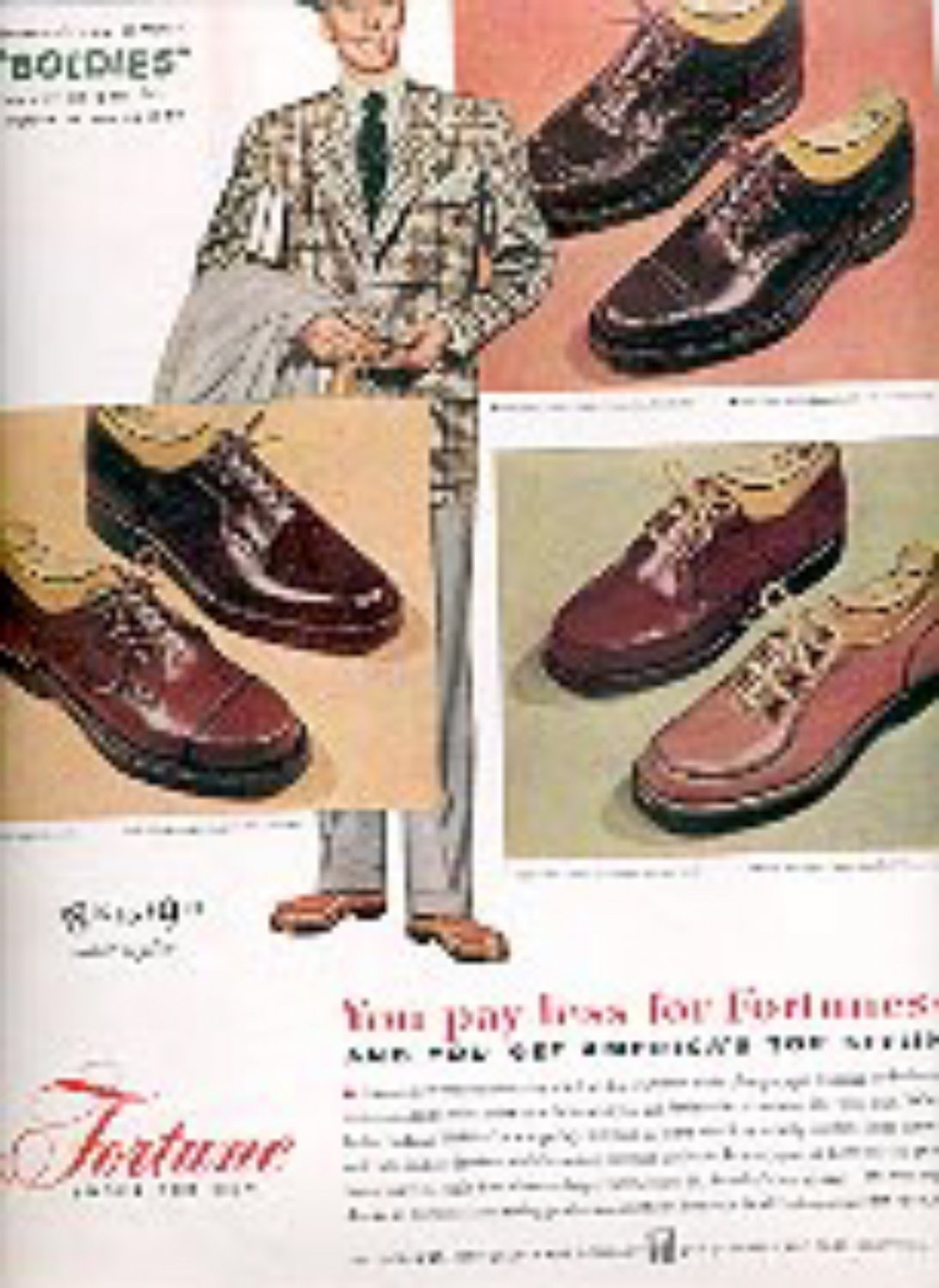 1949   Fortune Shoes for men ad (# 1633)