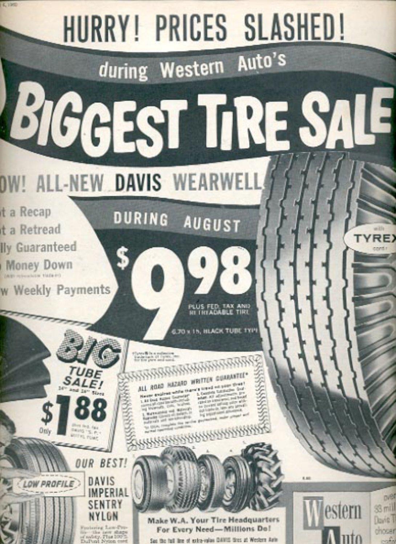 1960 Western Auto Tires  ad (#5508)