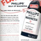 1957  Flavored  Phillips' Milk of Magnesia  ad (# 4971)