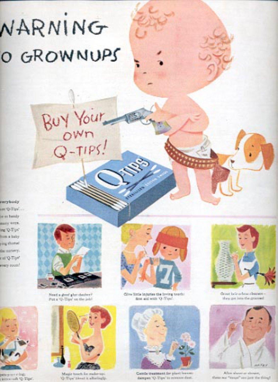 1957  Q-Tips Cotton Swabs  ad (# 4942)