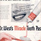 1946 Dr. West's Miracle Toothpaste ad (# 2473)