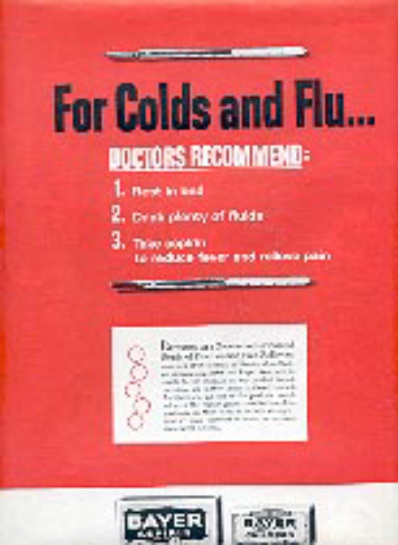 1965 Bayer Aspirin ad ( # 3170)