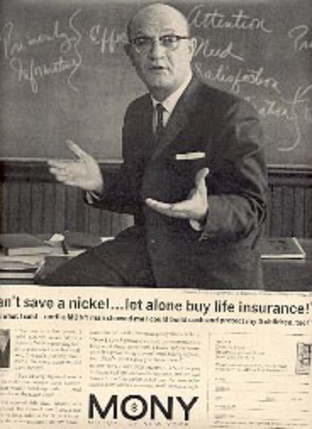 1962  Mony  Mutual of New York ad (# 1685)
