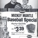 June 6, 1964- Phillies Mickey Mantle Baseball Special rawlings Glove ad (#1477)