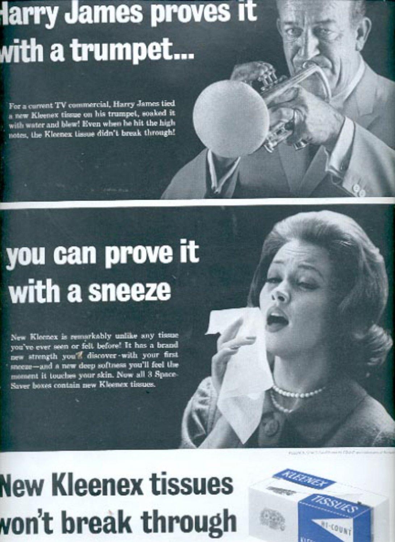 1963 Kleenex tissues  ad (#5517)