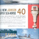 1960 Johnson Super Sea-Horse 40 outboard motors   ad (# 5310)
