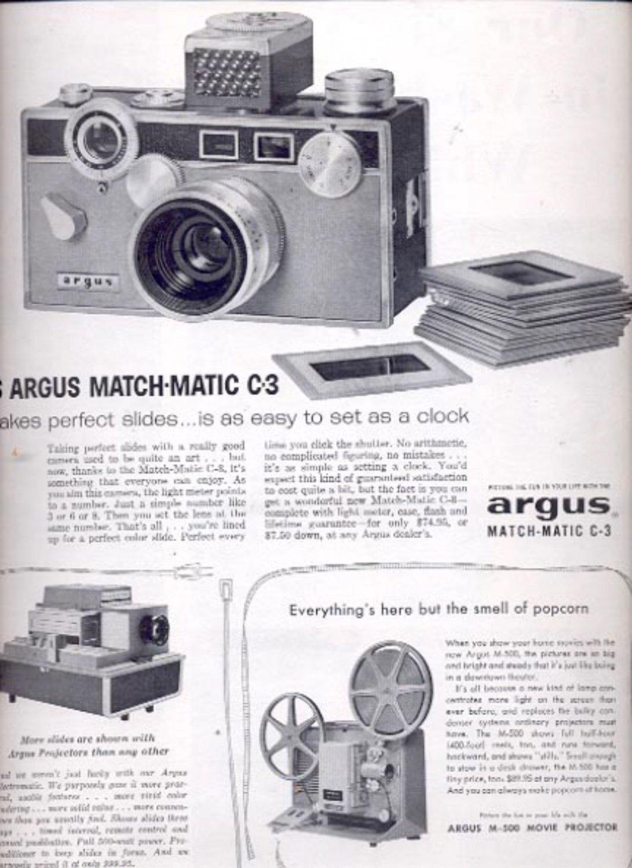 1959   Argus projectors   and cameras  ad (#5569)