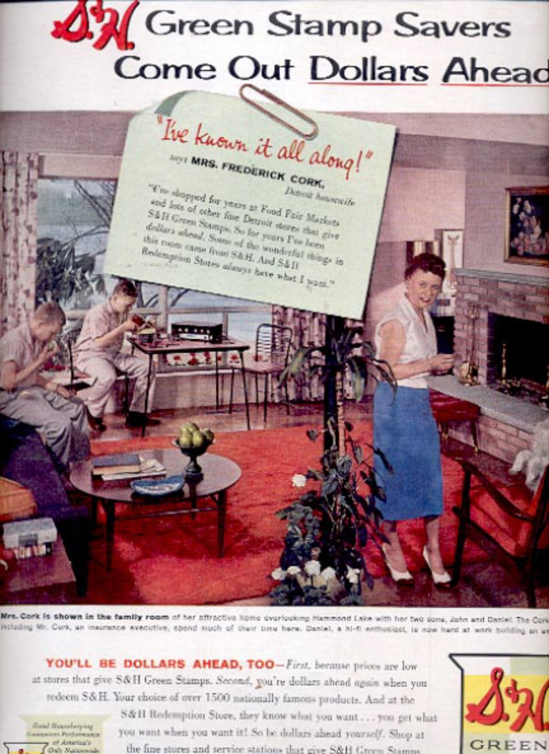 1959  S & H Green Stamps  ad (#5548)