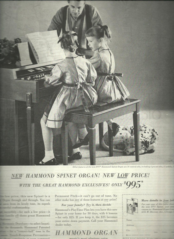 1962 Hammond Organ ad (# 3301)