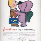 1964  Friendliness is a trip on Lufthansa  ad (# 5030)