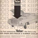 1960  Du Pont Telar Anti-Freeze & Summer coolant  ad (# 4537)
