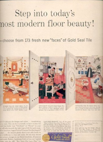 1957 Gold seal Tile- Congoleum- Nairn, Inc.  ad (# 4962)